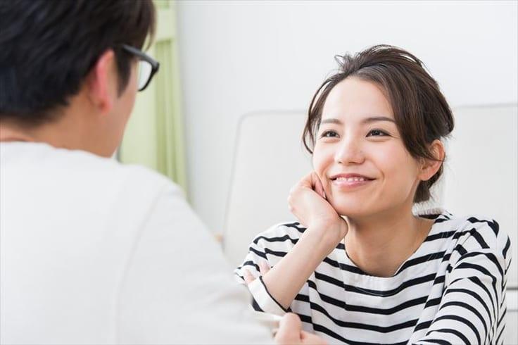 パートナーの笑顔