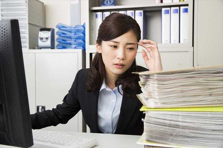 仕事量が多い女性